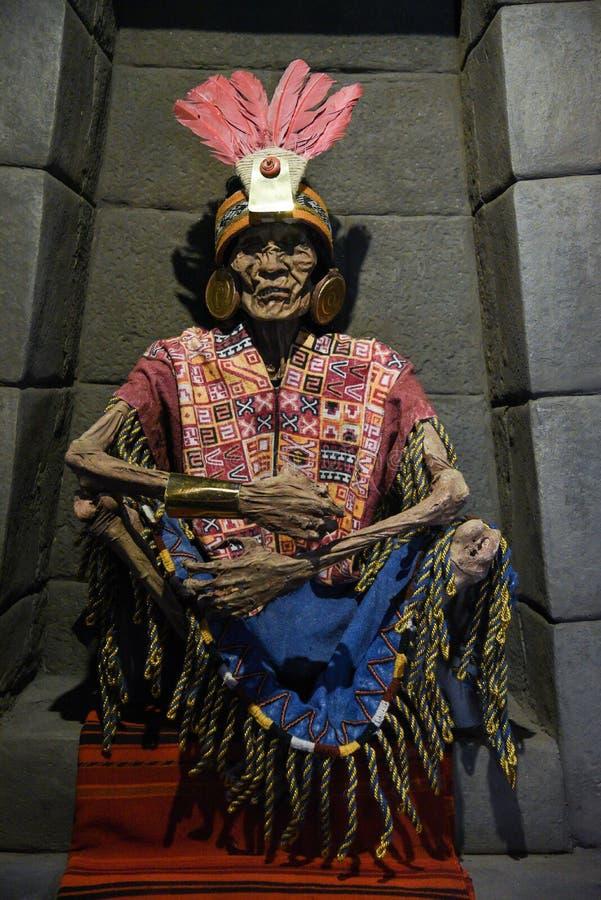 Momia peruana Inca Pachacutec imagen de archivo libre de regalías