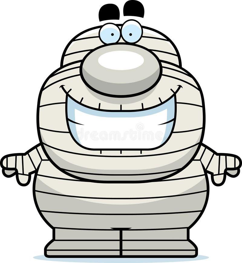 Momia sonriente de la historieta ilustración del vector