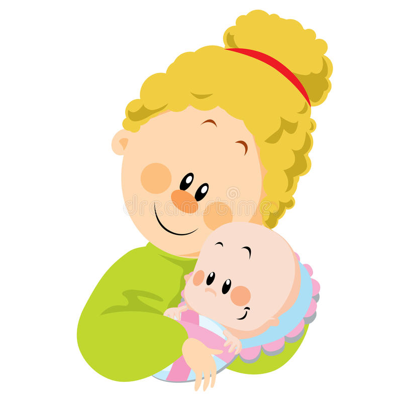 Momia y bebé ilustración del vector