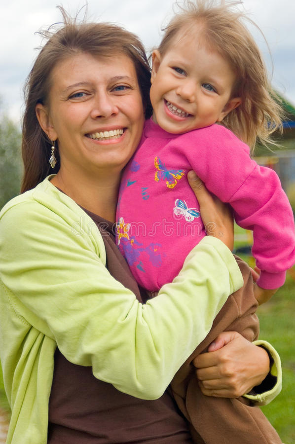 Momie avec l'enfant images libres de droits
