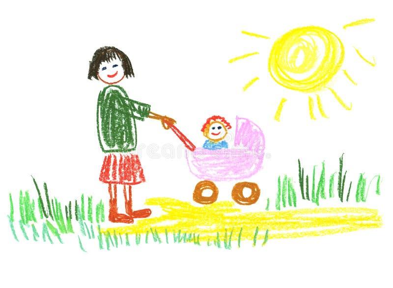 Momie heureuse illustration libre de droits