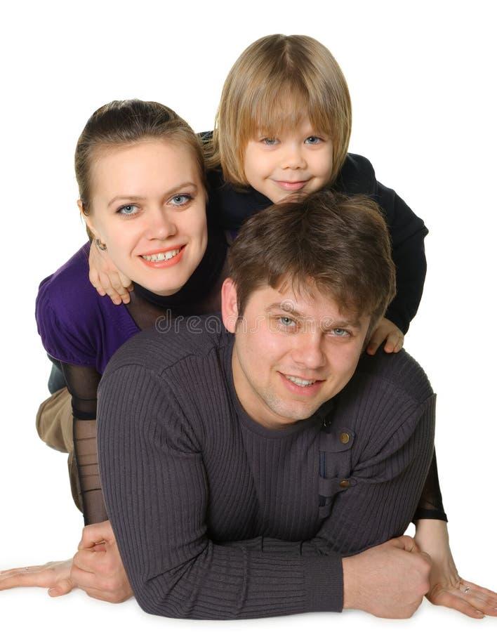Momie heureuse de famille, le papa, le fils photographie stock