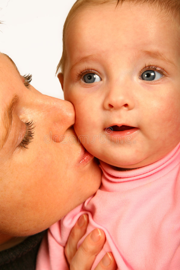 Mommy Kiss stock photos