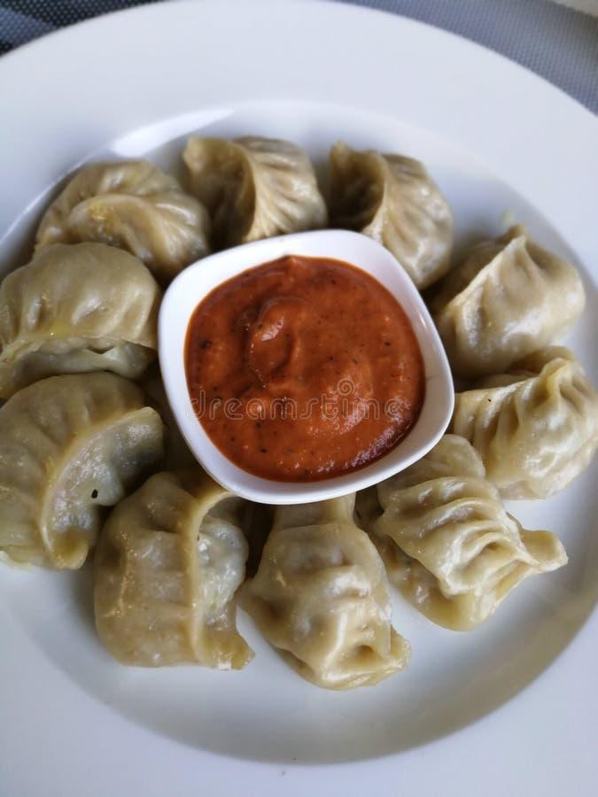 Momos. Foodie yummy achaar nonveg royalty free stock photos