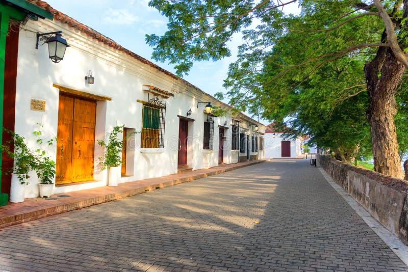 Mompox,哥伦比亚街视图 免版税库存图片