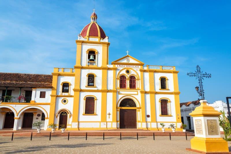 Mompox kyrka royaltyfria foton