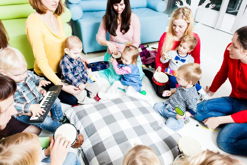 Musical education for preschoolers royalty free stock photos