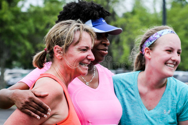 Moms' Day 5K run. stock photography