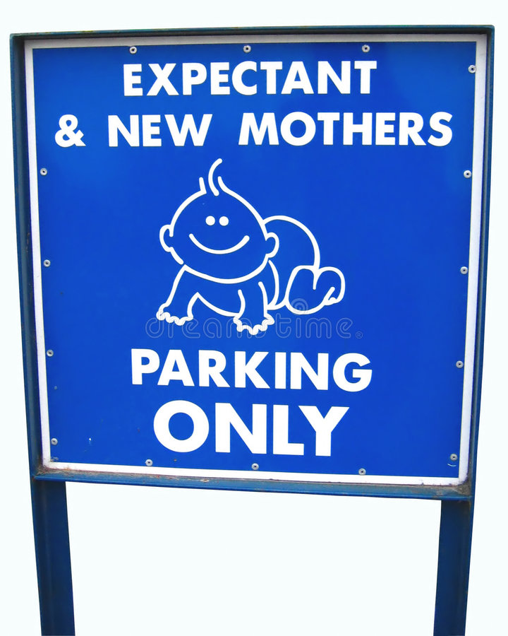 Download Moms only parking sign stock image. Image of easy, crawl - 47053