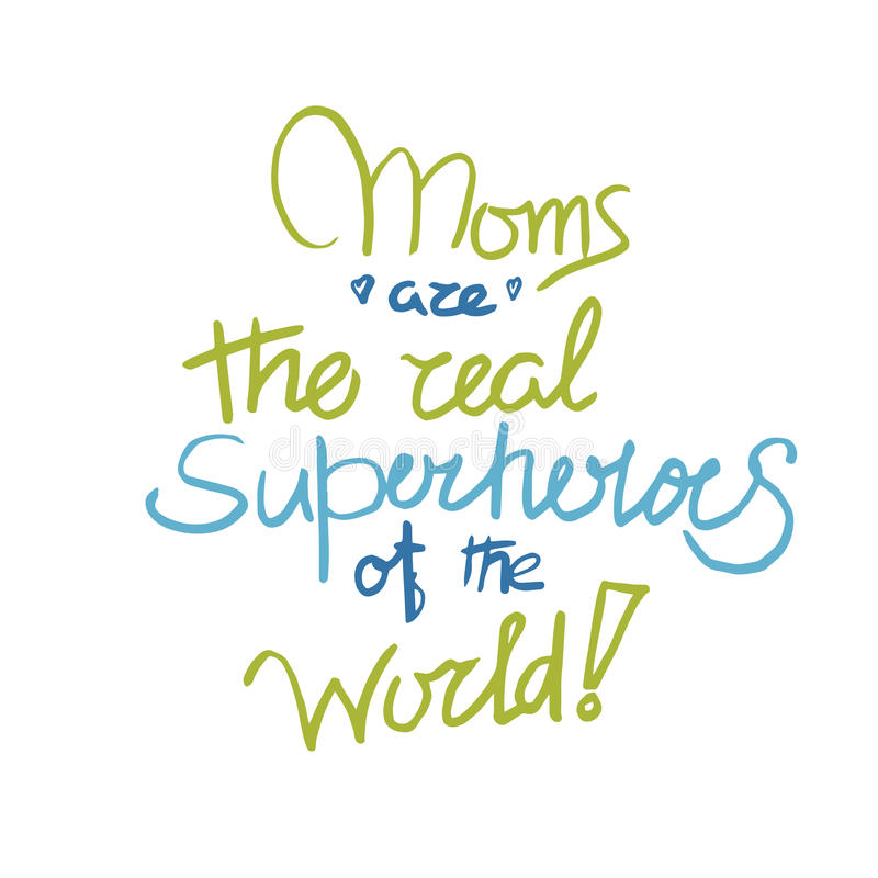 Moms poster in royalty free illustration