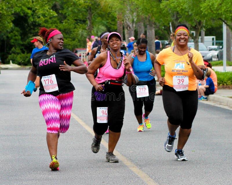Moms' Run 5K run. stock image
