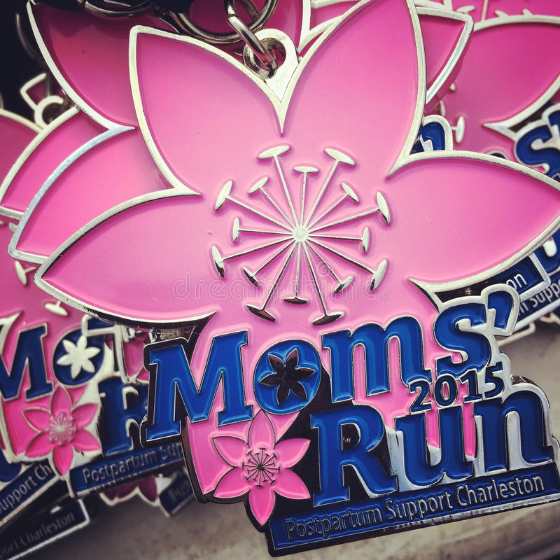 Moms' Run Medals royalty free stock images