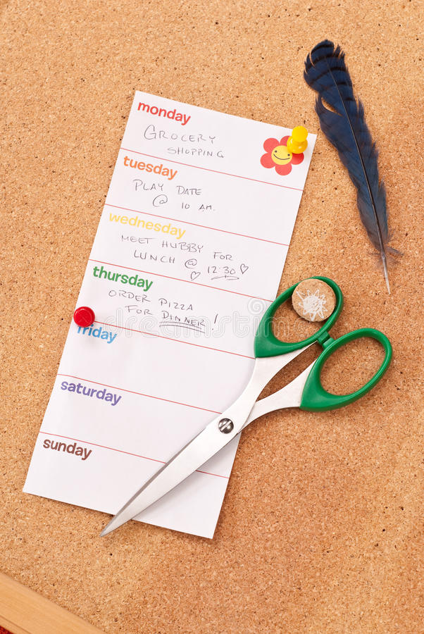 Download Moms To-Do List stock photo. Image of chart, grocery - 14340062