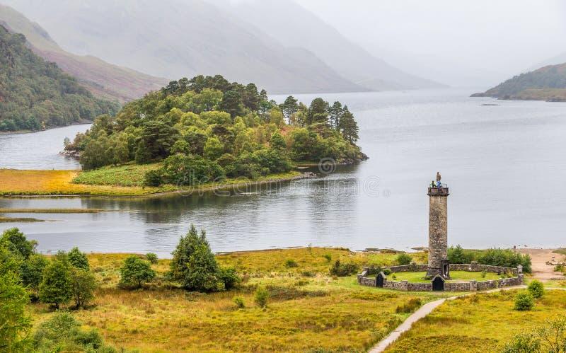 Momument de Glenfinnan no Loch Shiel, Escócia imagem de stock