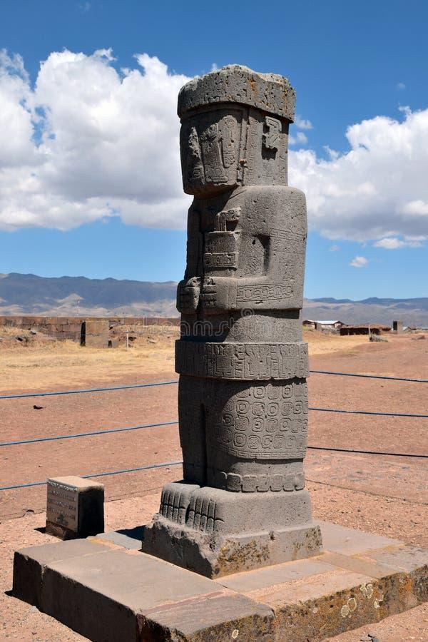 Monólito de Ponce, Bolívia fotos de stock royalty free