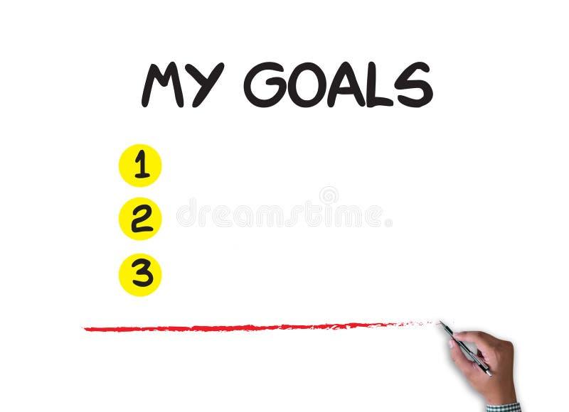 MON écriture de BUTS de mes buts image libre de droits