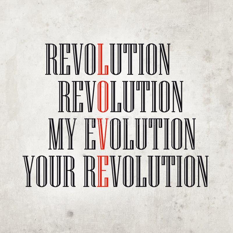 Mon évolution, votre révolution image libre de droits