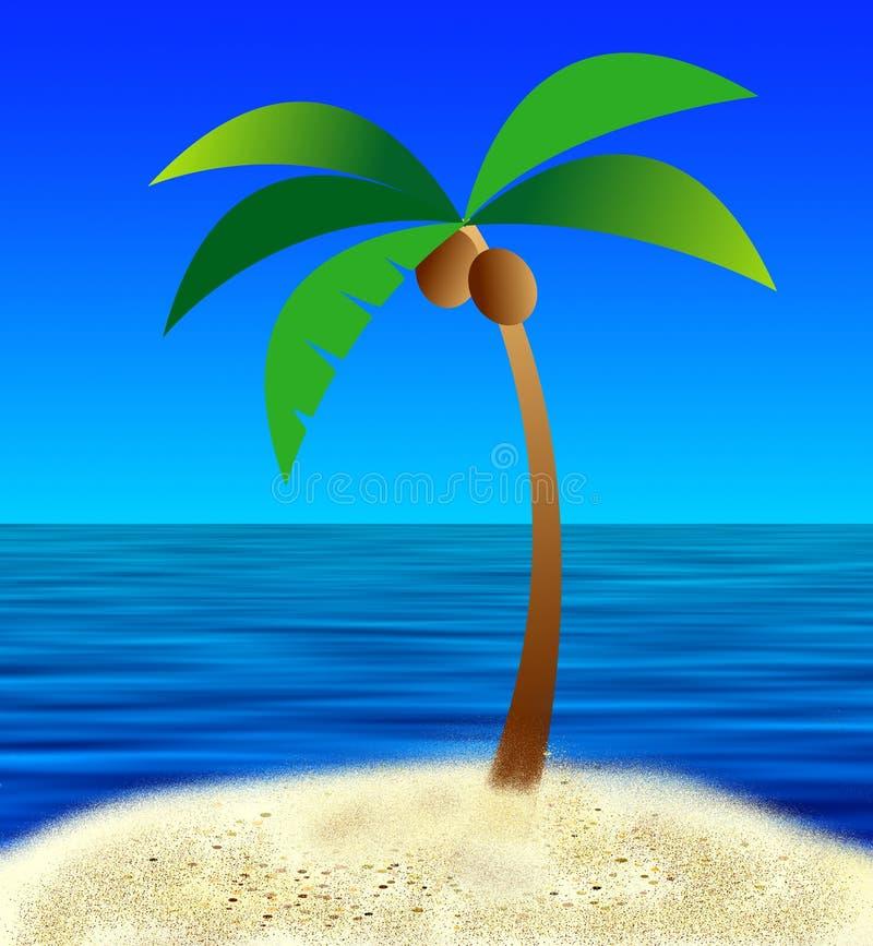 Download Mon île illustration stock. Illustration du paume, île, océan - 79332