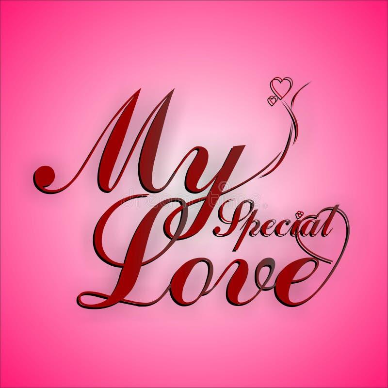 Mon amour spécial dans l'art de Typhography images libres de droits