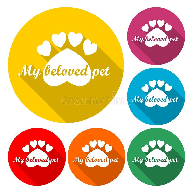 Mon animal familier aimé, calibre de conception de logo de vecteur pour des magasins de bêtes - illustration illustration de vecteur