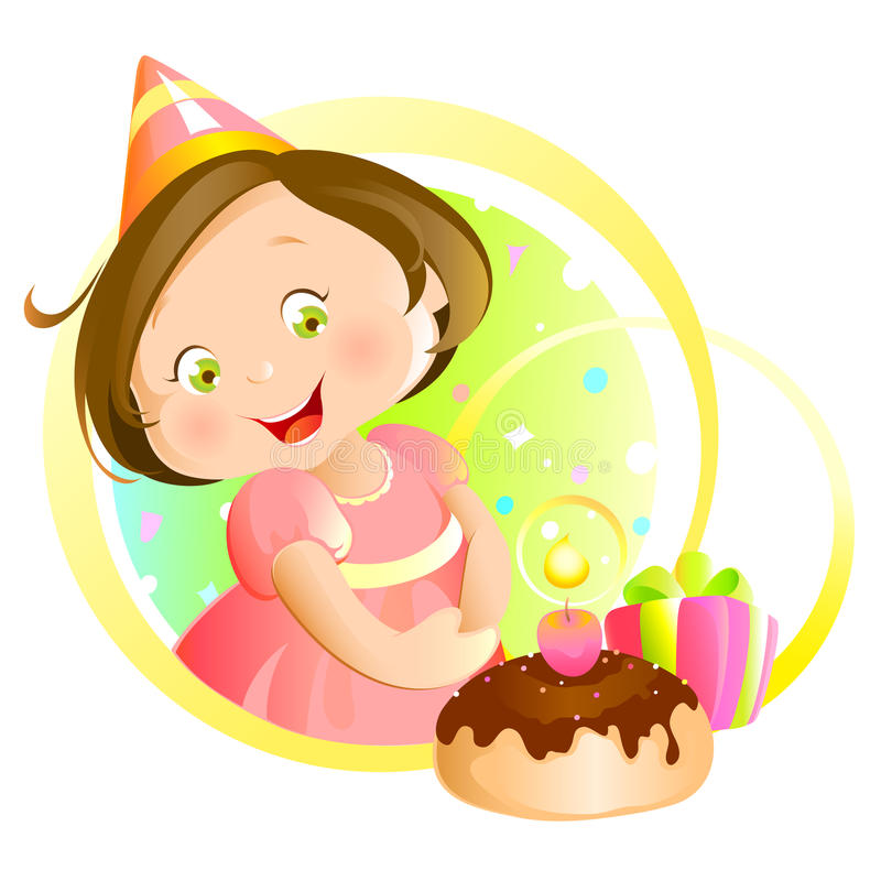 Mon anniversaire illustration stock