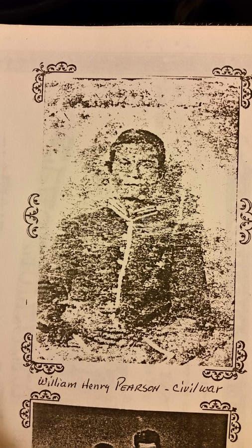 Mon arrière-grand-père qui a combattu à la bataille de Shiloh TN photographie stock
