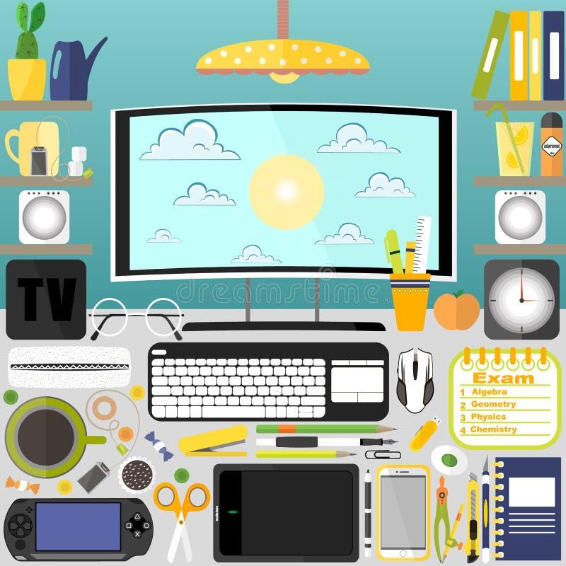 Mon bureau, affaires, bureau photographie stock libre de droits