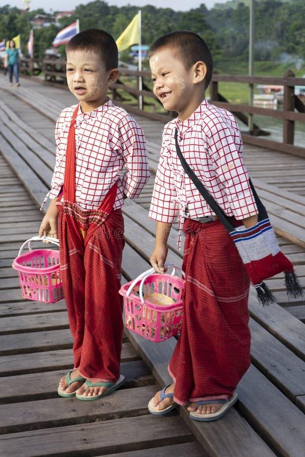 Mon Child With Thanaka Powder In Mon Village, Sangklaburi