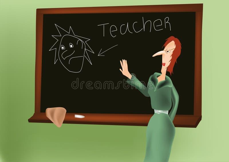 Mon premier professeur illustration libre de droits