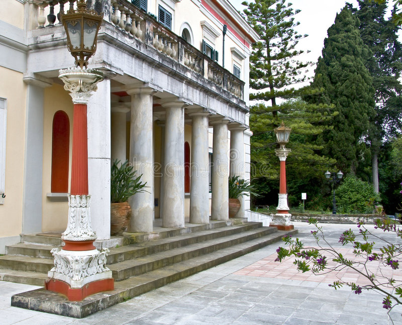 Mon Repo palace at Corfu. Greece stock image