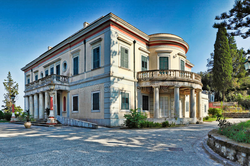 Mon Repos in Corfu, Greece. Mon Repos is a villa on the island of Corfu, Greece royalty free stock photo