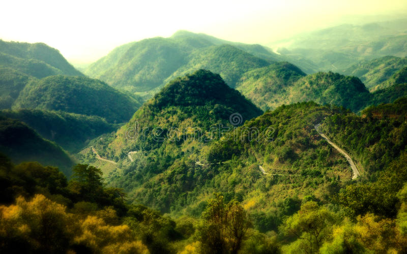 Mon Sone View Point. Doi Pha Hom Pok National Park, formerly known as Mae Fang National Park is the northernmost national park in Thailand. It straddles Fang royalty free stock image
