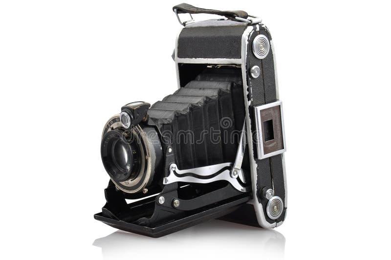 Mon vieux rétro appareil-photo a séparé sur l'écran blanc photos stock