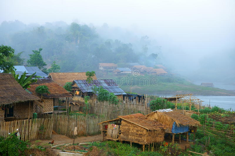 Mon village, bathing in fog.