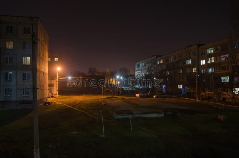 Mon yard nocturne de favori images stock