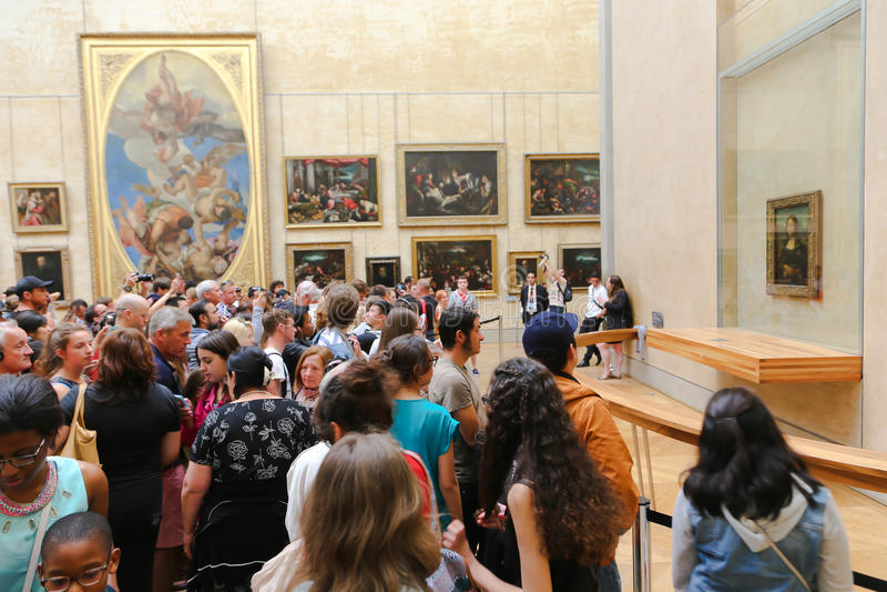 Mona Лиза - Лувр, Париж стоковое изображение rf
