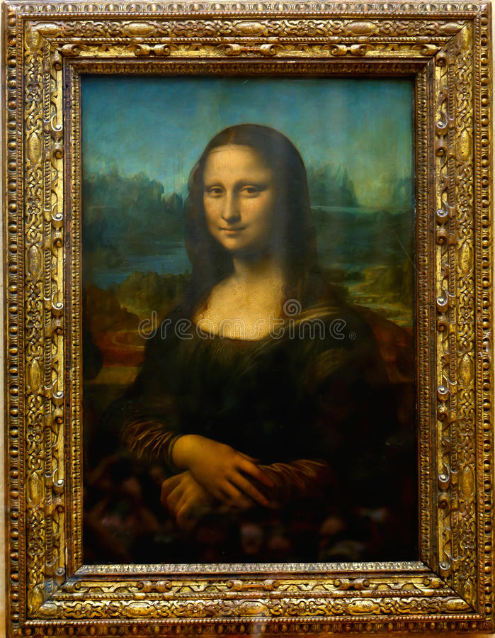 Mona Lisa Παρίσι στοκ φωτογραφίες