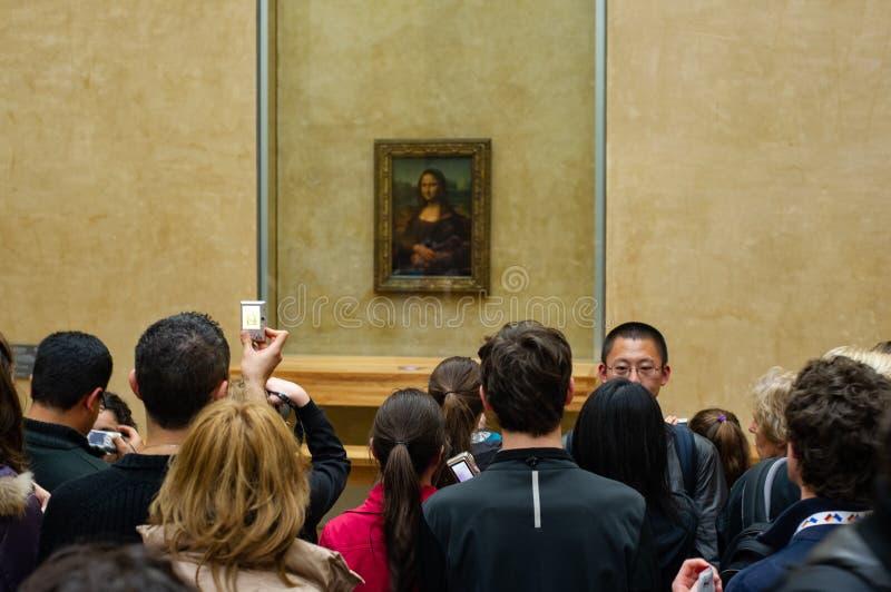 Mona lisa на жалюзи стоковые фото