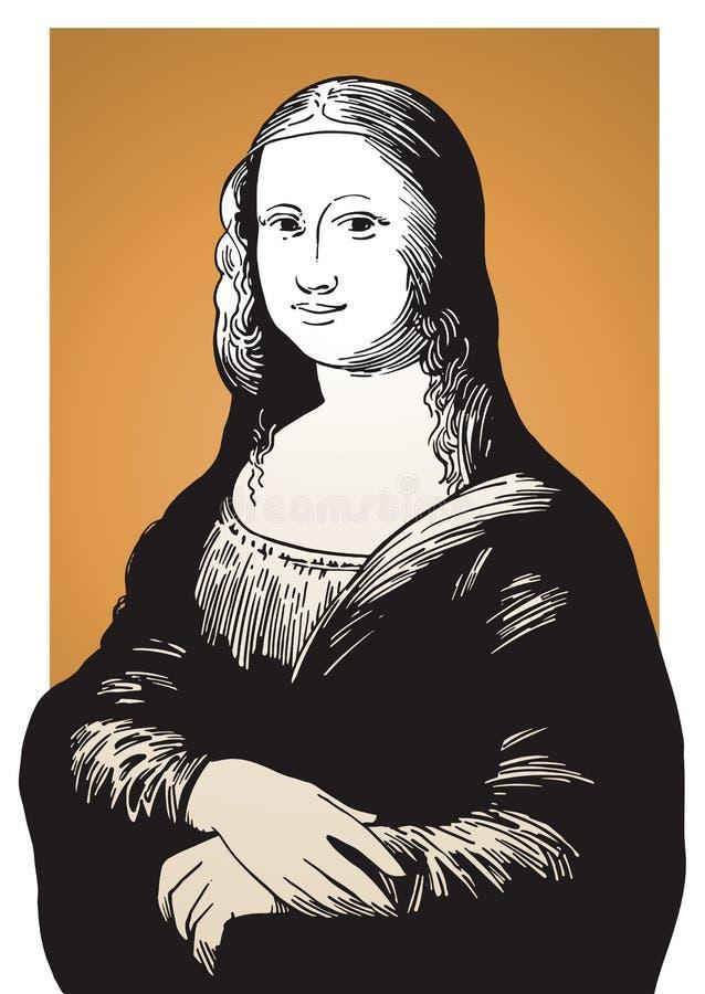 Mona Lisa illustrazione vettoriale