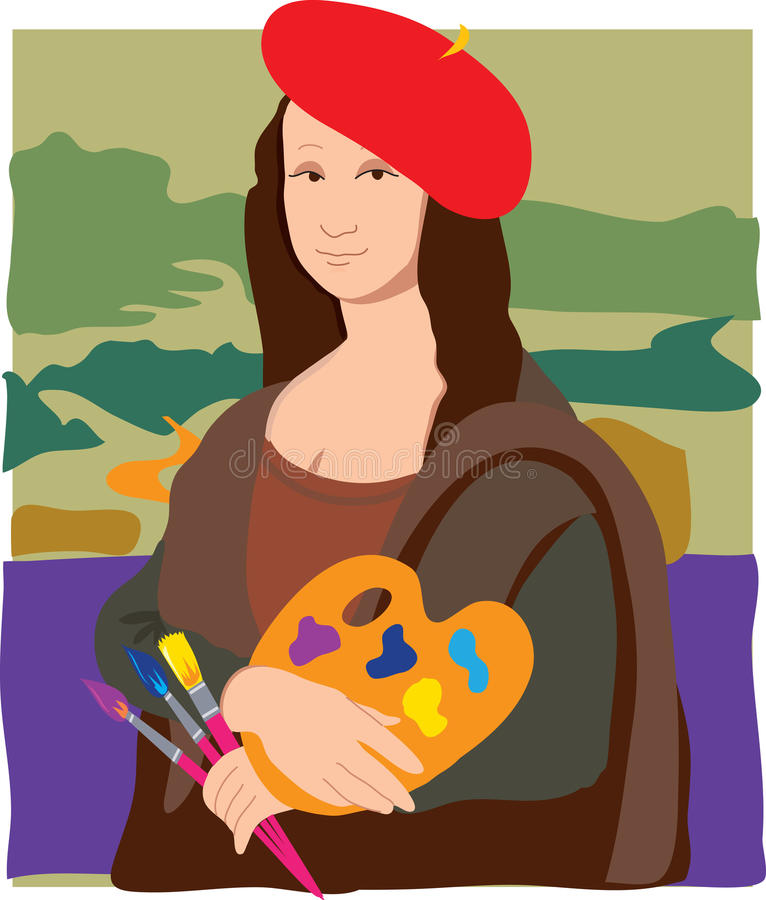 Mona Lisa Artist stock illustration