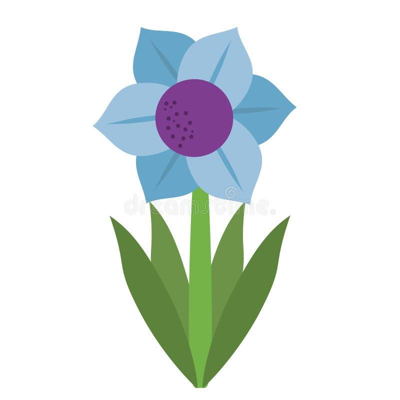 Mona Lisa błękitny kwiat naturalny ilustracja wektor