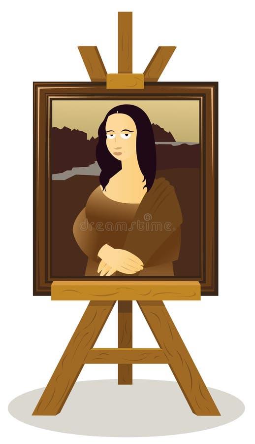 Mona Lisa Easel διανυσματική απεικόνιση