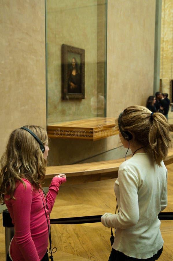 Mona Lisa em Musée du Grelha, Paris imagens de stock royalty free