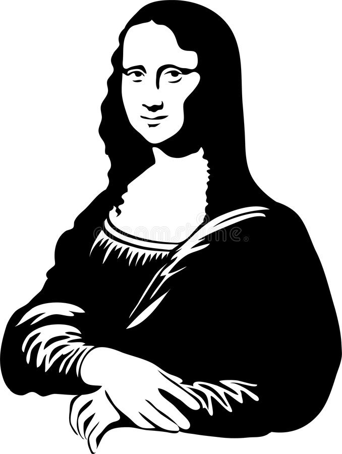 Mona Lisa eps uśmiech ilustracji
