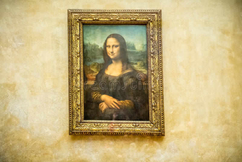 Mona Lisa-het schilderen royalty-vrije stock foto
