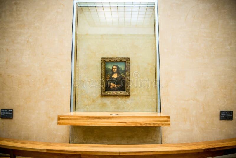 Mona Lisa-het schilderen stock foto's