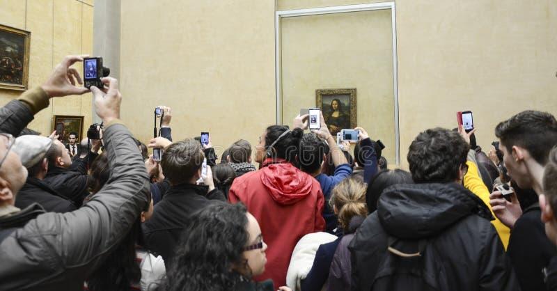 Mona Lisa, Louvre royalty-vrije stock afbeelding