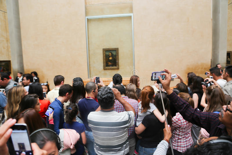 Mona Lisa - Louvre-Museum, Paris lizenzfreie stockfotos