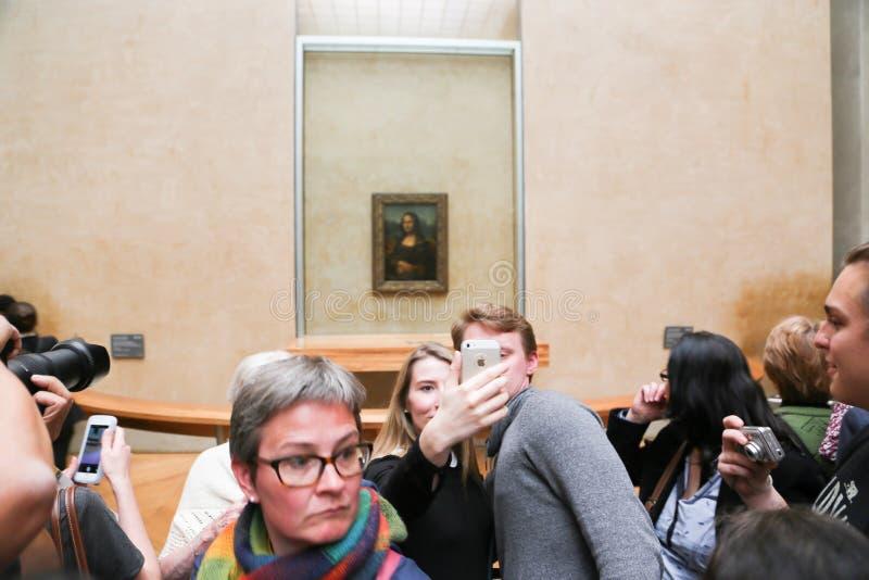 Mona Lisa - Louvre-Museum, Paris lizenzfreies stockfoto