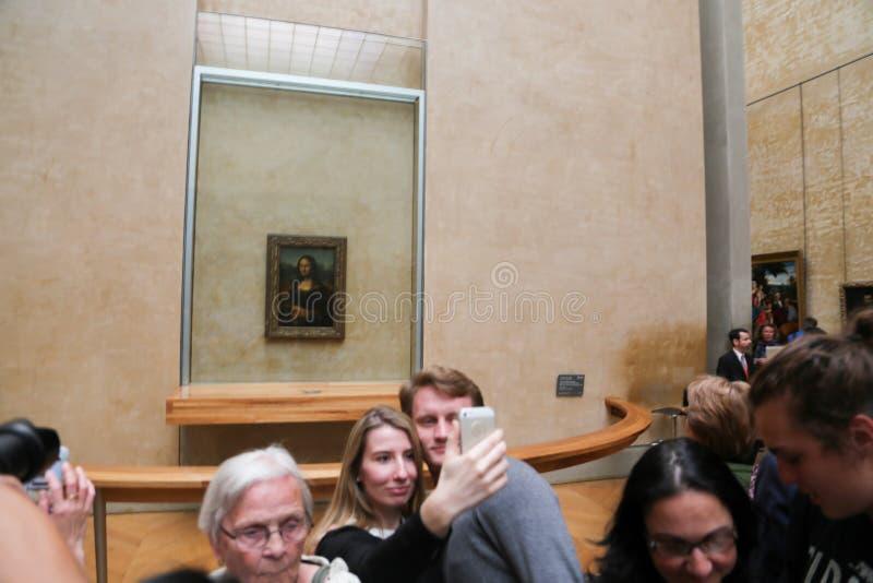Mona Lisa - Louvre-Museum, Paris stockbilder